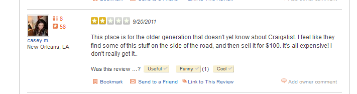 Example of a Bad Review