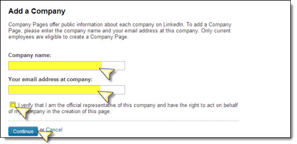 LinkedIn Create a Company Page