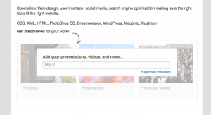 LinkedIn Screenshot for Presentations
