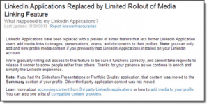 Screenshot LinkedIn Blog New Changes