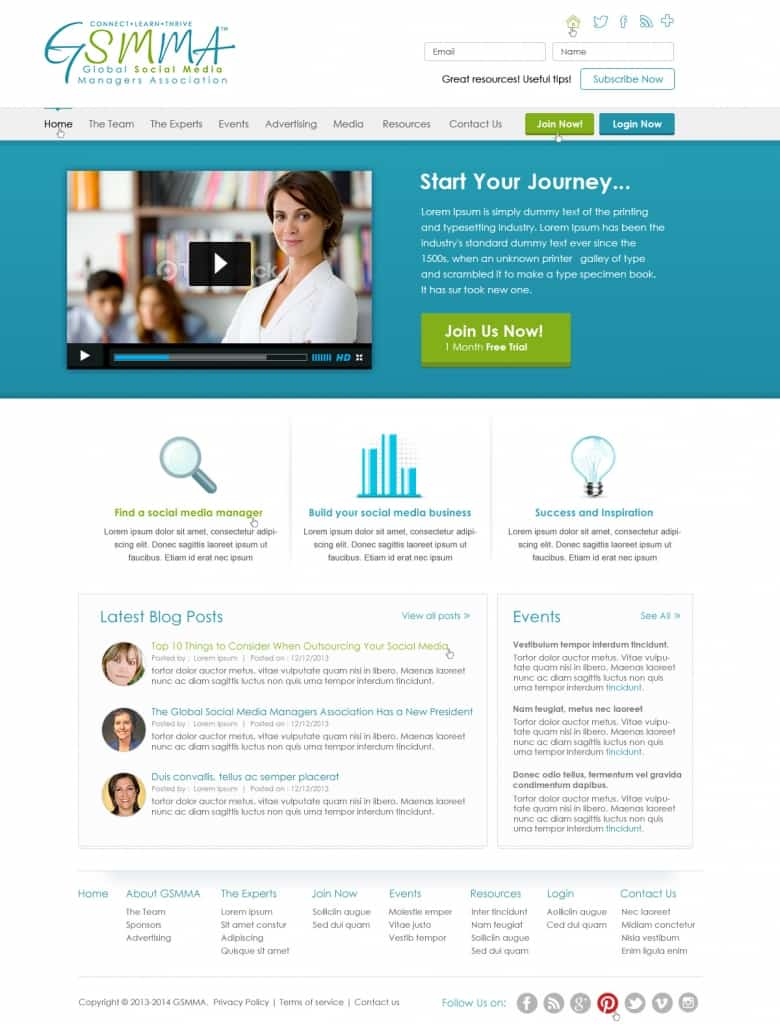 Custom Website Design with WordPress
