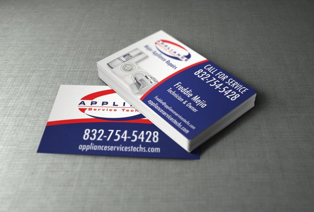 Business Card Design - Appliance Repair - Internet Marketing