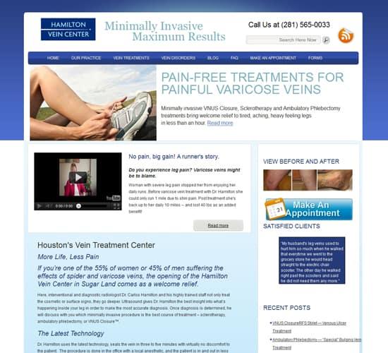 Medical Website Design - Vein Specialist