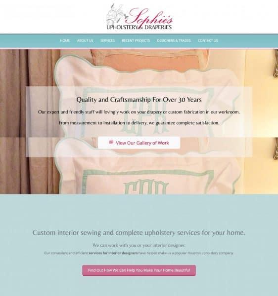 custom upholstery wordpress website