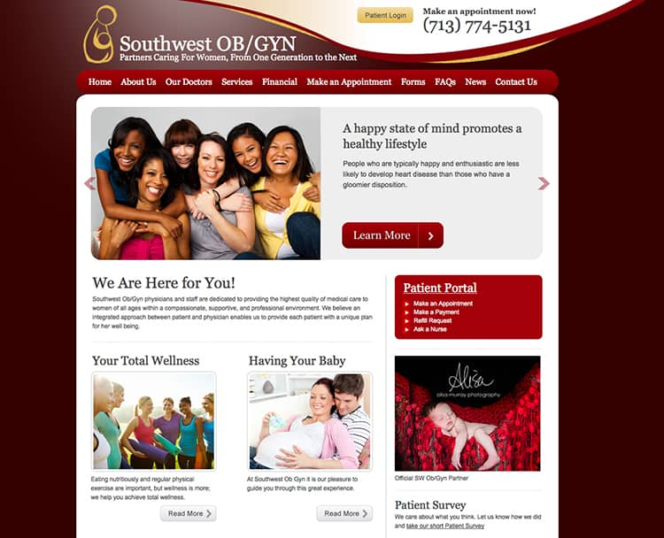 southwest obgyn website design
