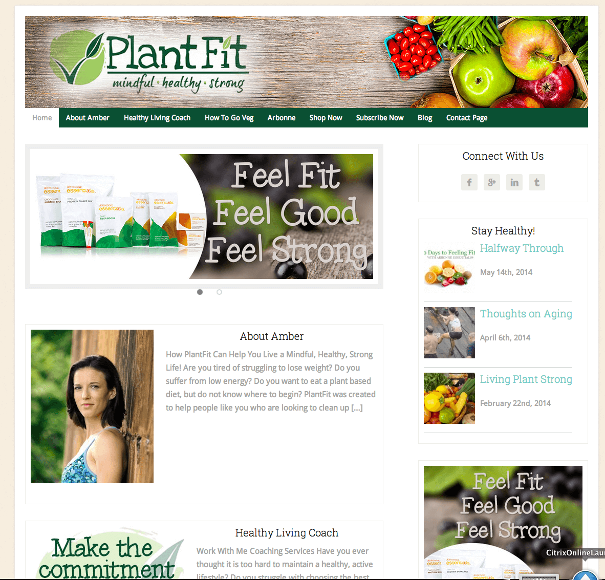 Nutrition WordPress Website Design