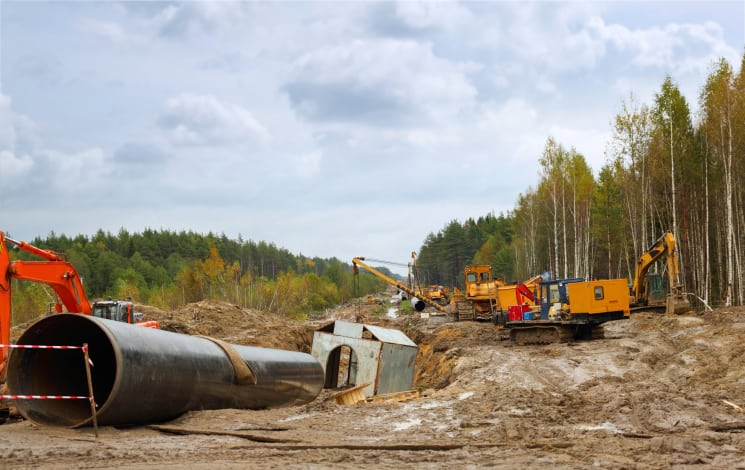 construction of gas pipeline