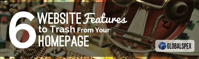 What to Trash From Your Website's Homepage
