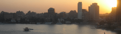 View from hotel, Nile at Cairo