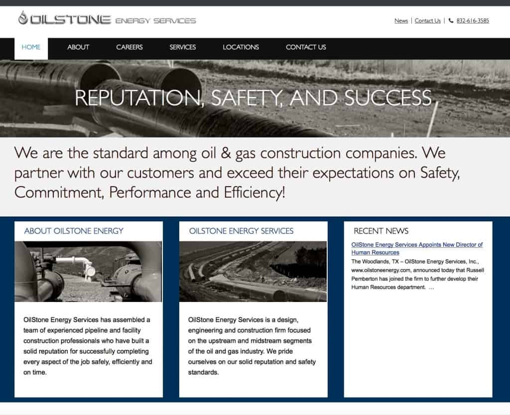 Energy Website Design