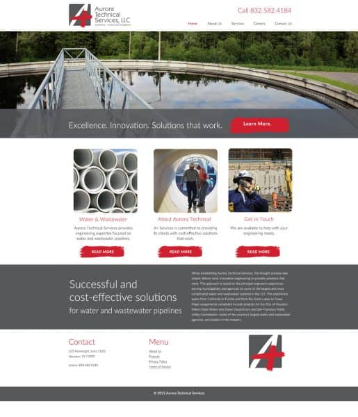 oil and gas web design