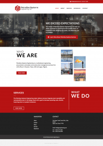 oil and gas web design