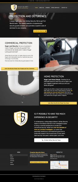 Security Website Design in Houston