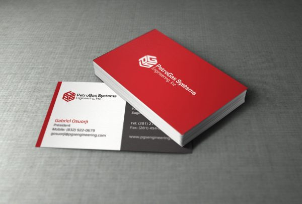 houston business card design