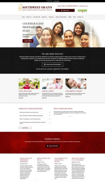 houston medical website design