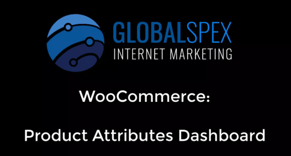 Woocommerce: Attributes Dashboard