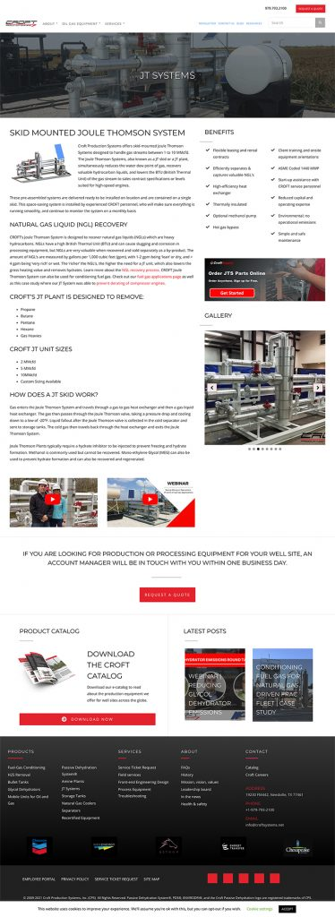 website content - service page example