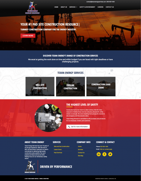 pipeline website design