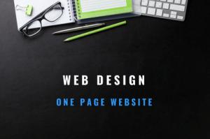 web design one page website