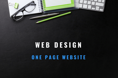 web design one page website
