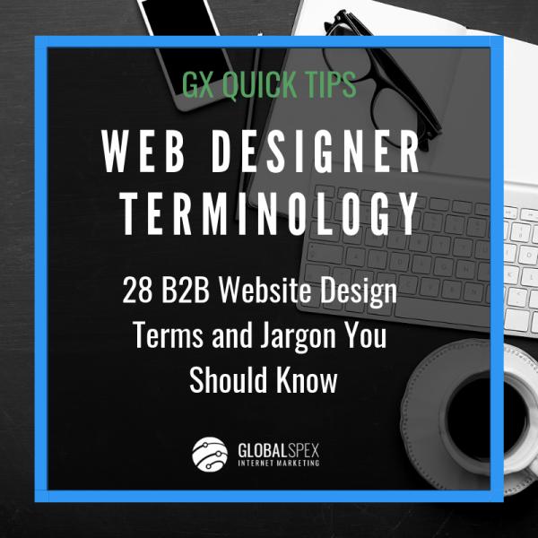 b2b website design terms