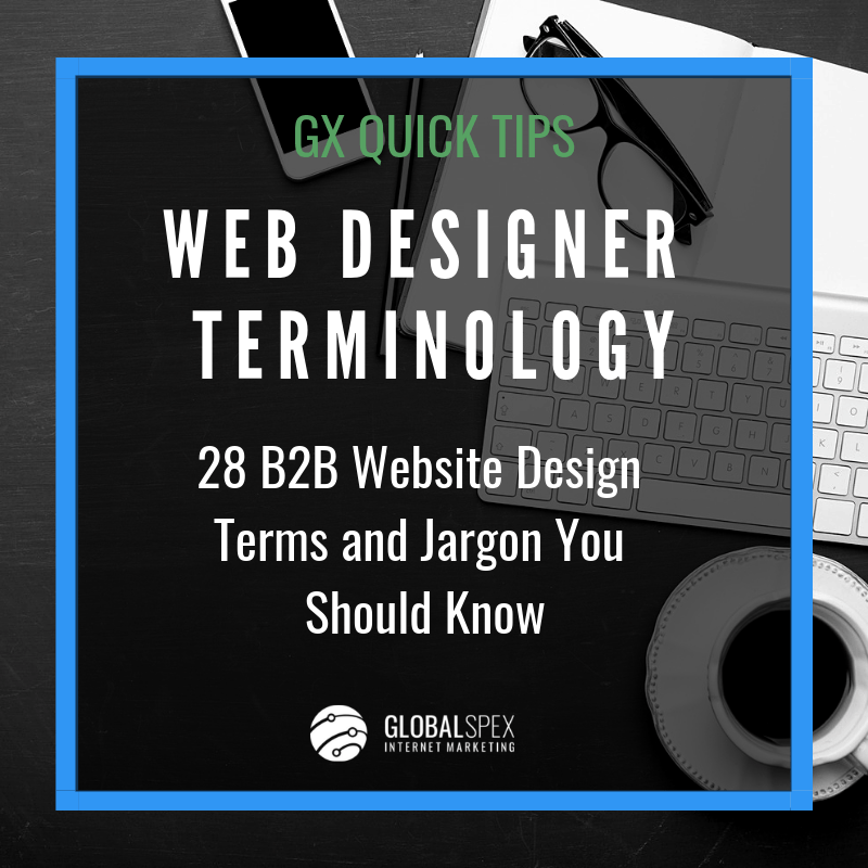 b2b website design terms