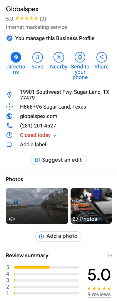 seo local houston google