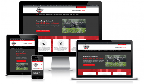 oil gas website design