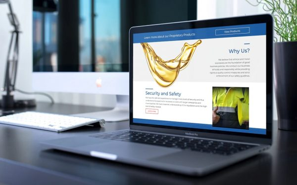 b2b website design chemical company