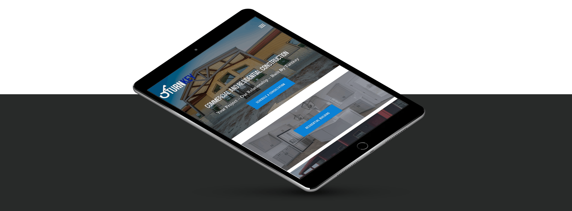 website responsive mobile construction website