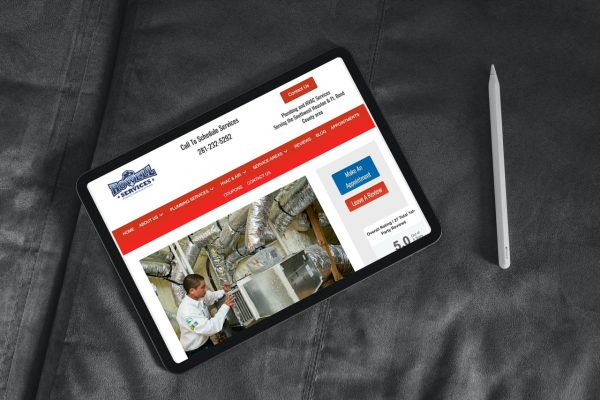 plumbing hvac web design
