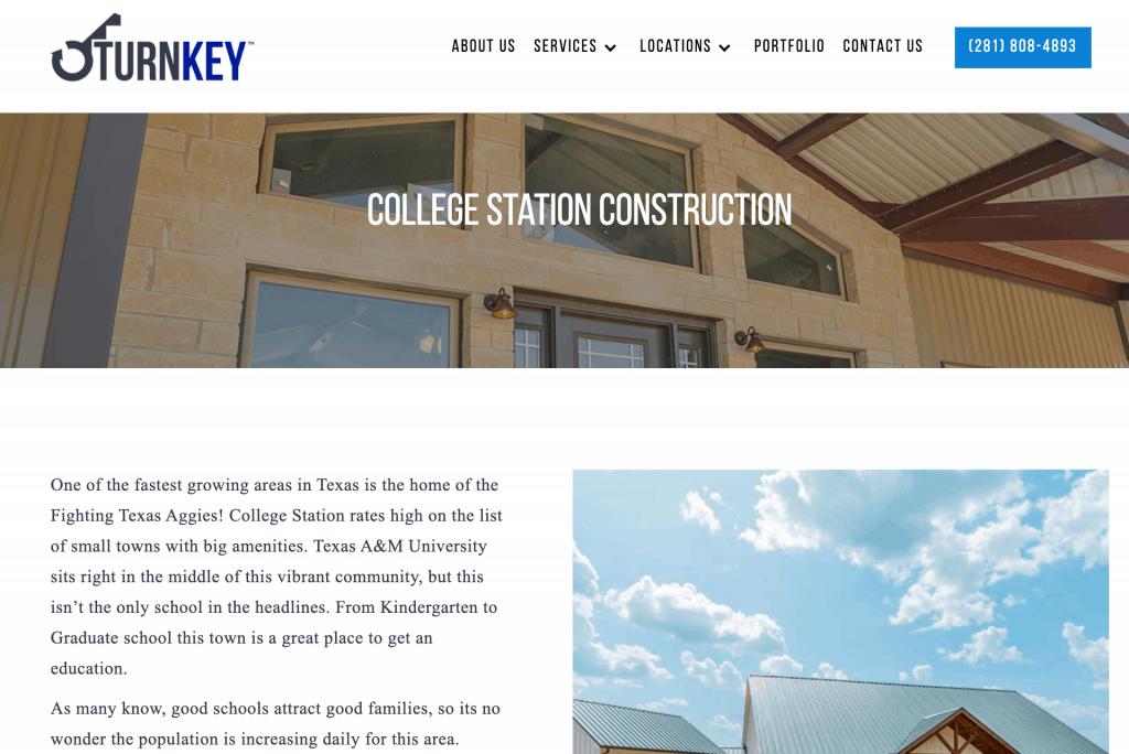 construction location