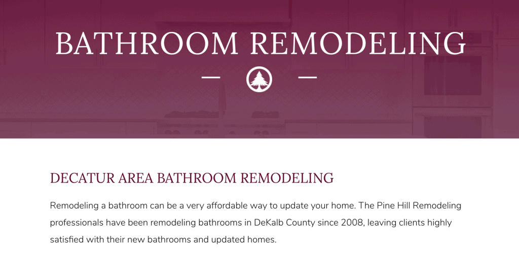 construction website design example
