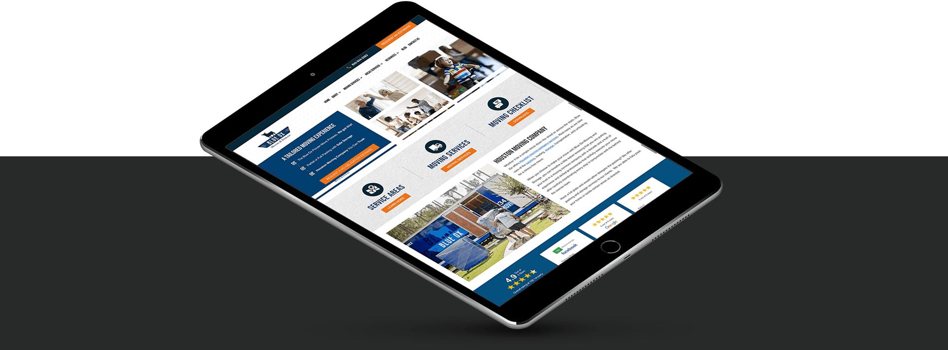 moving company website design portfolio