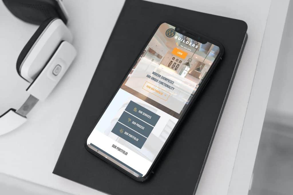 mobile web design for construction company