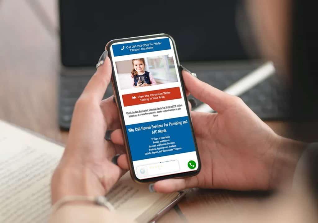 mobile website design clean