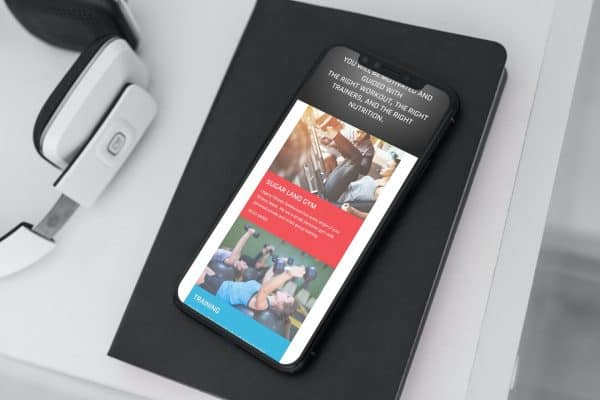 gym mobile web design