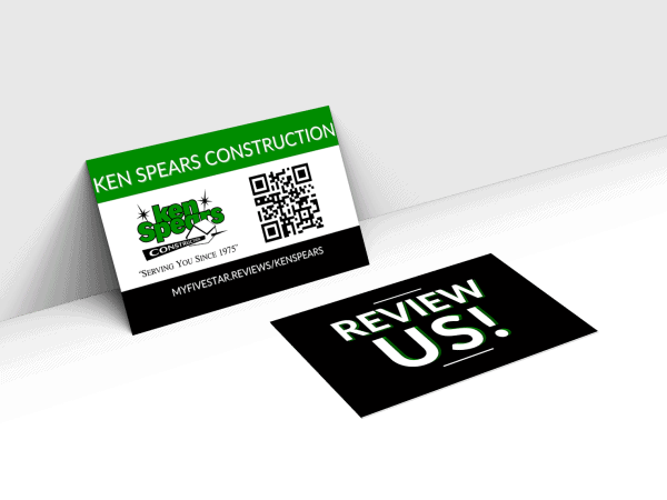 review business cards with QR code