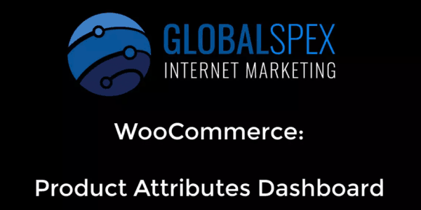 Woocommerce: Attributes Dashboard